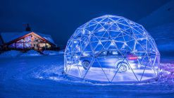 Porsche's Latest Showroom Sits In A Bubble Atop The French Alps
