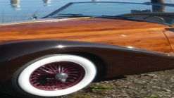 The Dolphin hand-built wooden car with Datsun mechanicals is for sale