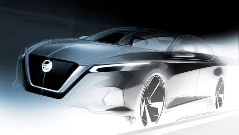 Nissan Altima previewed in design sketch before NYC reveal
