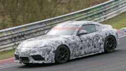 Toyota Supra's instrument cluster partially revealed in spy shots