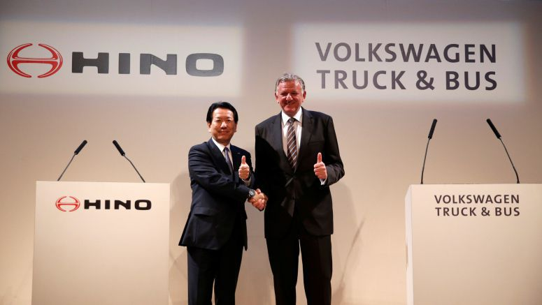 Toyota group truck maker Hino enters strategic tie-up with VW truck unit