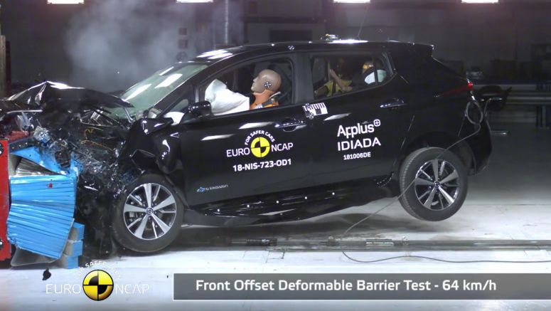 2018 Nissan Leaf beats rebadged Bolt in Euro NCAP crash testing