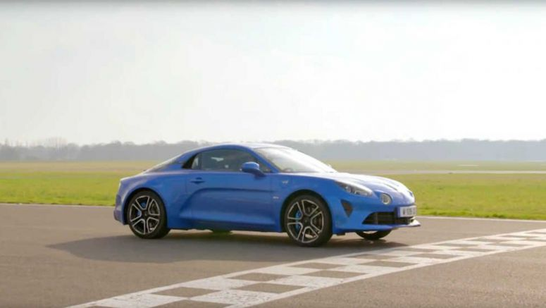 Watch The Stig Take An Alpine A110 Around The Top Gear Track