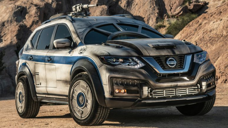 2018 Nissan Rogue does its best Millennium Falcon impression