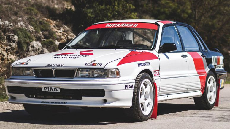 Relive Mitsubishi's Glory Days In This 1990 Galant VR-4 Group A Rally Car