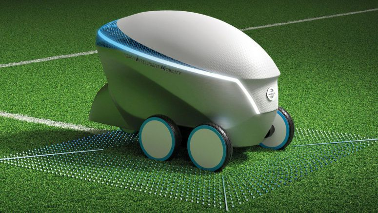 Nissan's Autonomous Robot Will Draw A Football Pitch For You