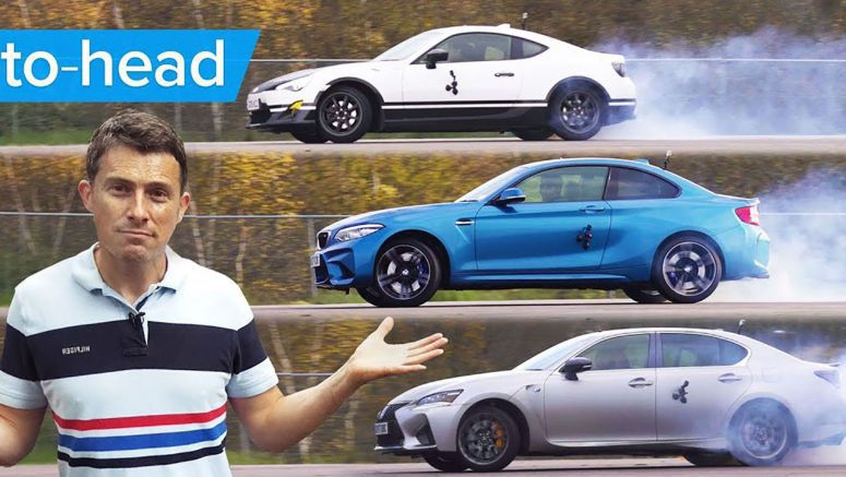 BMW M2 vs Lexus GS F vs Toyota GT86: Which One Drifts Better?