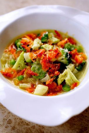 Minestrone filled with vegetables of spring is 'soothing' food