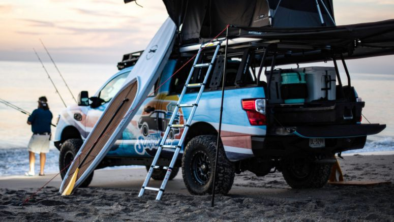 Nissan Titan Surfcamp Show Truck Heads For The Shore