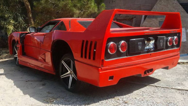 Old Nissan Sentra Wakes Up As A Ferrari F40, Is Pathetic Even By Replica Standards