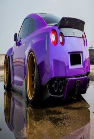 Plum Crazy Nissan GT-R Sacrifices Driveability For Fast & Furious Looks