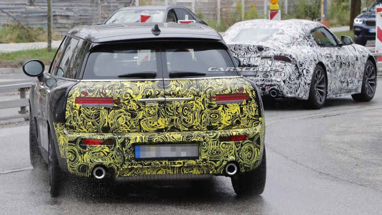 Facelifted MINI Clubman JCW Caught Testing Alongside The Toyota Supra