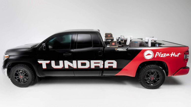 Toyota Built A Mirai Hydrogen-Powered Tundra With A Robo Pizza Maker
