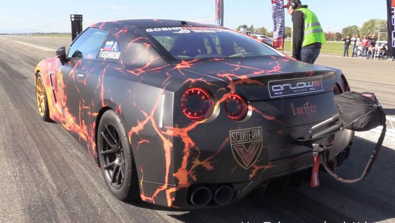 Demonic Nissan GT-R Has 1600 HP, Hits 211 MPH In Half A Mile