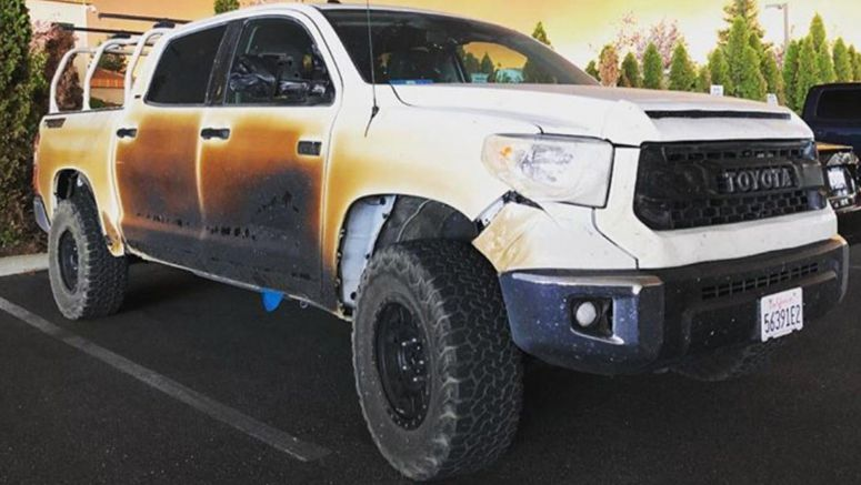 Toyota USA To Replace Heroic Nurse's Charred Tundra After He Drove Through Californian Fires