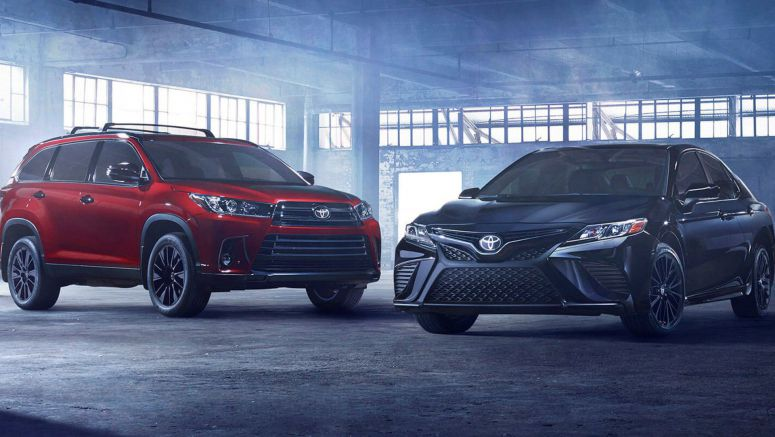 Toyota Unveils Camry And Highlander Nightshade Special Editions