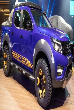 Nissan's Frontier Sentinel Concept Is A Rugged Rescue Truck With A Drone Landing Pad