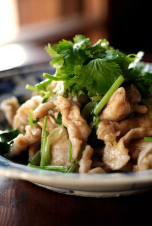 Spice things up with stir-fried pork and coriander