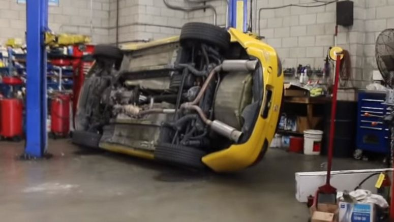 Honda S2000 Sustains Serious Damage After Dropping Off Workshop Lift
