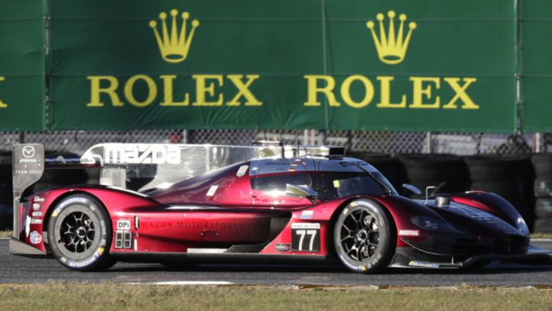 Oliver Jarvis in a Mazda takes pole in star-studded Rolex 24 at Daytona