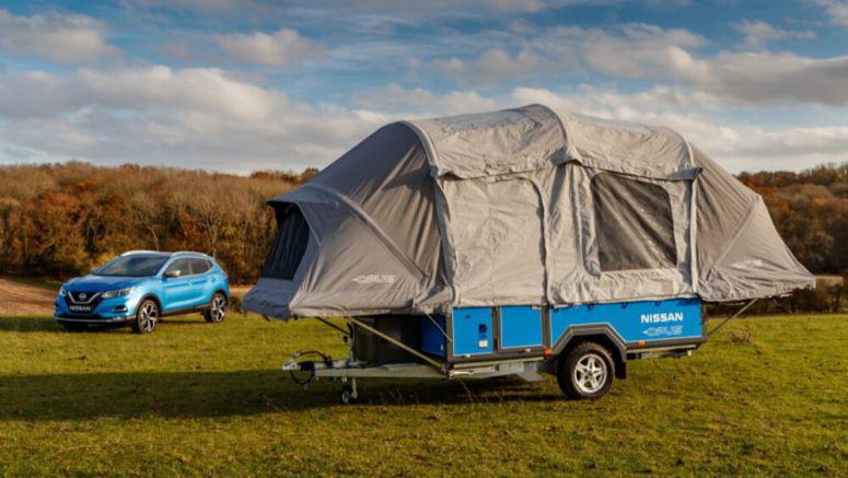 Old Nissan EV batteries power Opus camping trailer for a week
