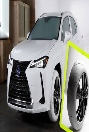 Lexus UX Gets Fancy Nike Air Force 1 Inspired White Tires Designed By John Elliott