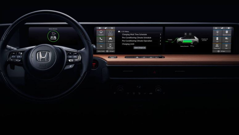 Honda's EV Prototype Reveals Dashboard Design With Extra Wide Screen