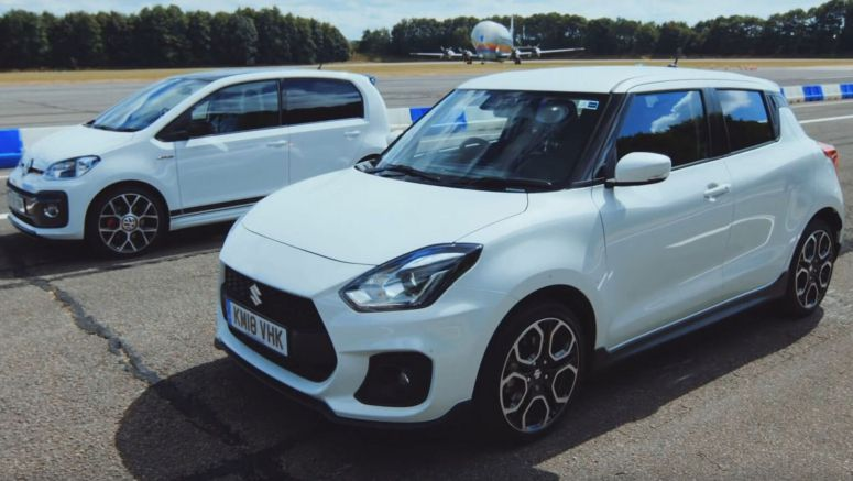 VW Up! GTI Vs Suzuki Swift Sport In Mini-Me Warm Hatch Race