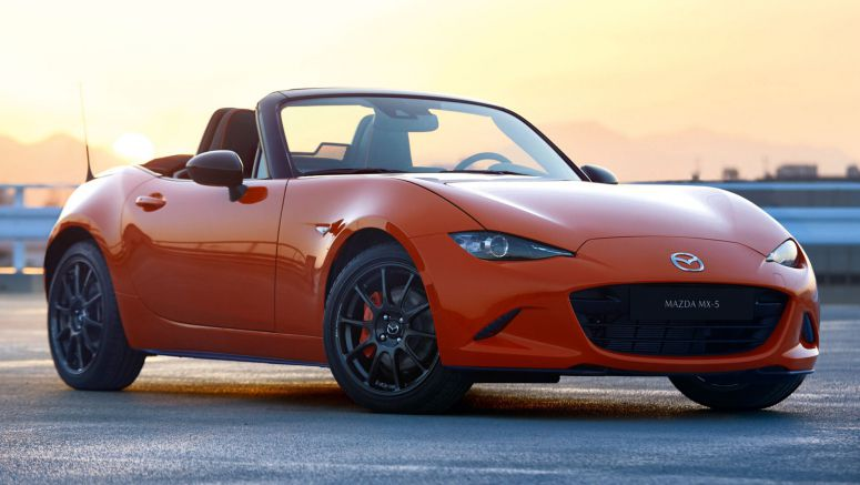 New Mazda MX-5 30th Anniversary Edition Flaunts Exclusive Orange Paintjob
