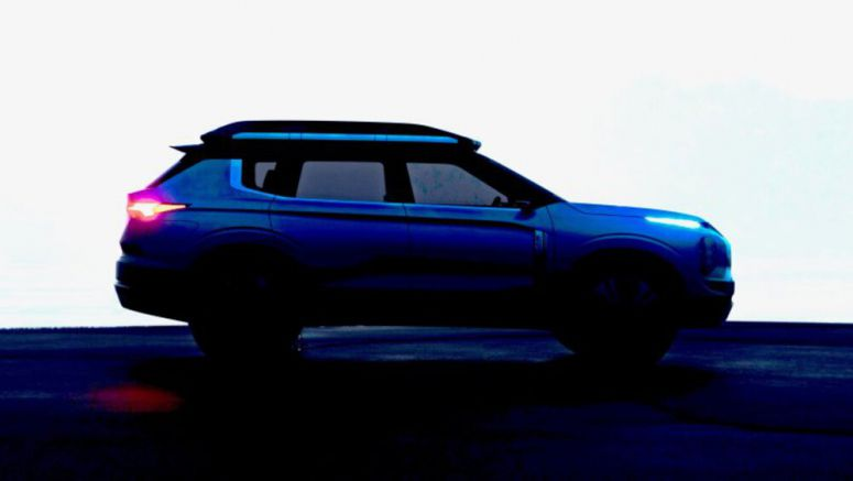 Mitsubishi Engelberg Tourer electric crossover partly revealed in teaser