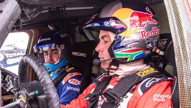 Alonso tests with Dakar Rally-winning Toyota truck