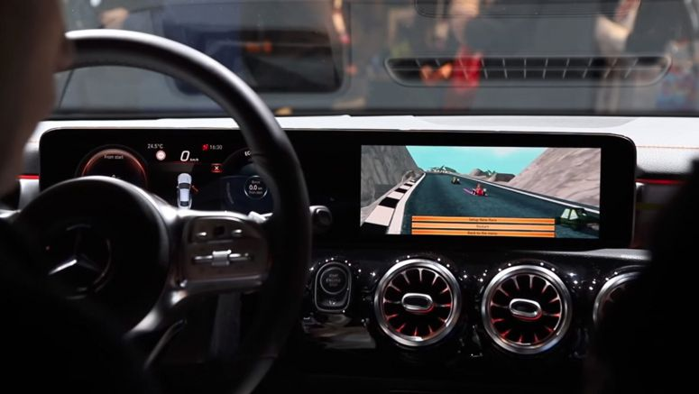 You Can Play Mario Kart With The Mercedes CLA's MBUX Infotainment System