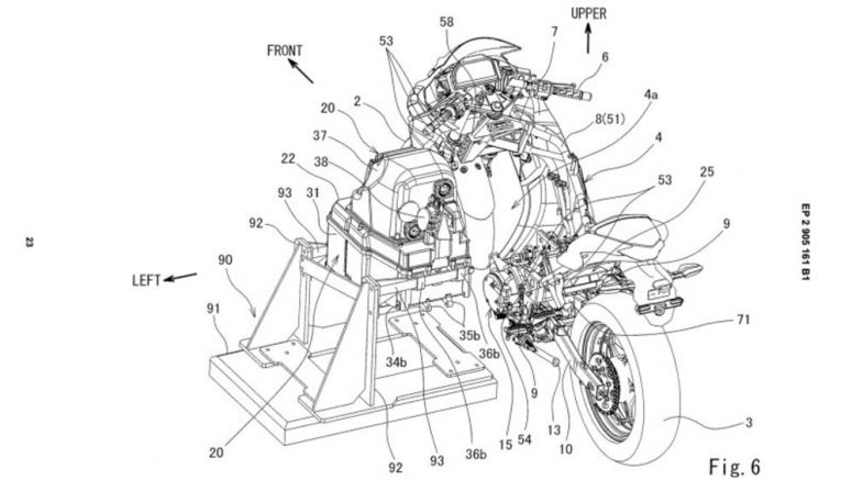Patents imagine Kawasaki Ninja with swappable batteries