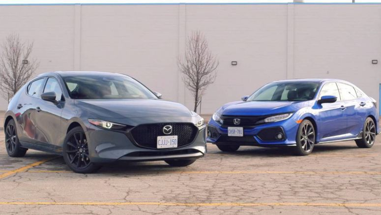 2019 Mazda3 AWD Vs. 2019 Honda Civic: Which Sporty Japanese Compact Comes Out On Top?