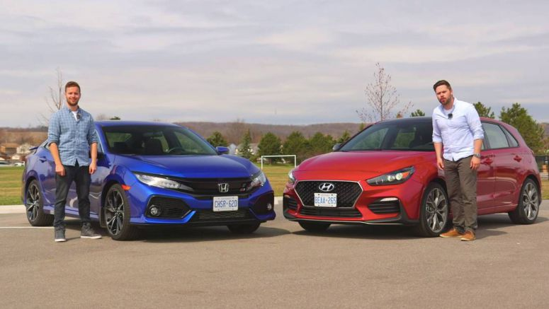 2019 Hyundai Elantra GT N Line Takes On 2019 Honda Civic Si
