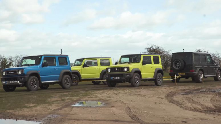 Can Three Suzuki Jimnys Take Down A Mercedes-AMG G63?