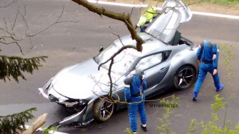 2020 Toyota Supra Crashes At The Nurburgring, Loses Its Nose