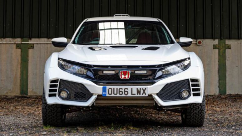 Look at this epic Honda Civic Type R rally car