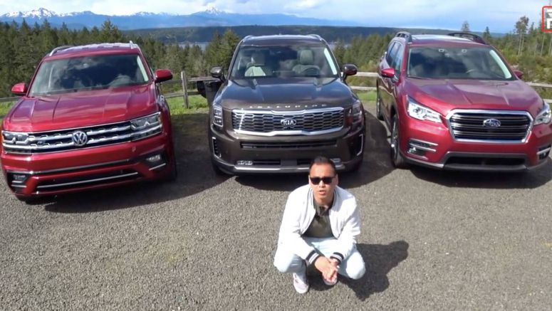 Kia Telluride Faces Subaru Ascent And VW Atlas In Three-Row SUV Comparo