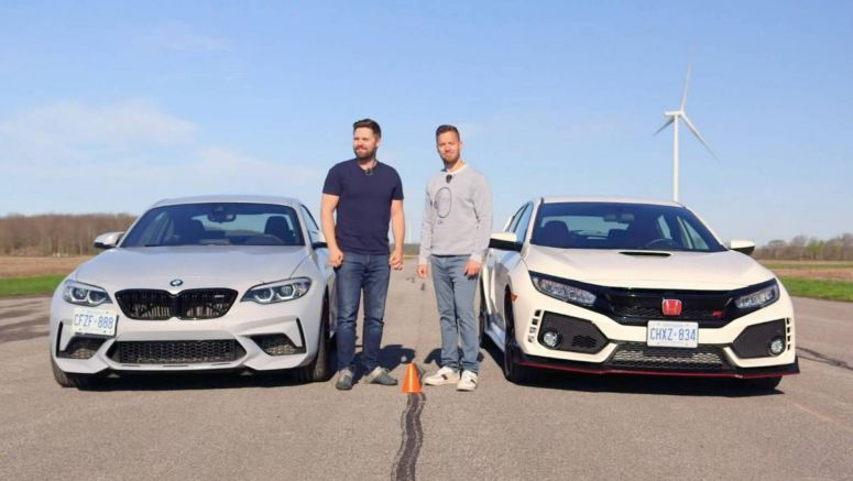 Honda Civic Type R Vs. BMW M2 Competition In Track Battle