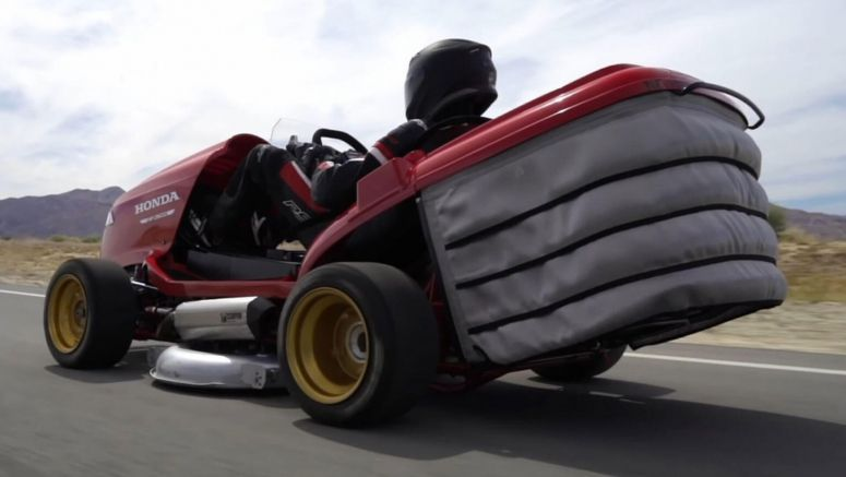 Honda's Insane Mean Mower V2 Reviewed: Quicker Than A Nissan GT-R, Scary As Hell To Drive