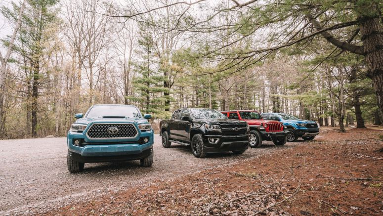 Autoblog Midsize Truck Comparison | Toyota Tacoma, Ford Ranger, Chevy Colorado, Jeep Gladiator