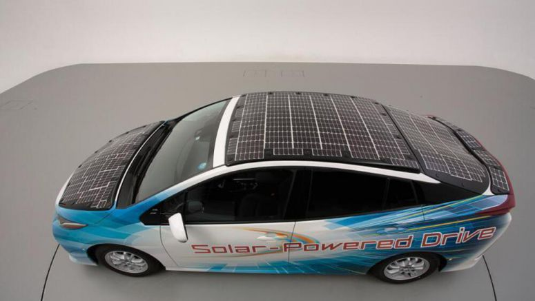 Toyota Testing An Electric Car With A Solar Roof That Can Charge Itself