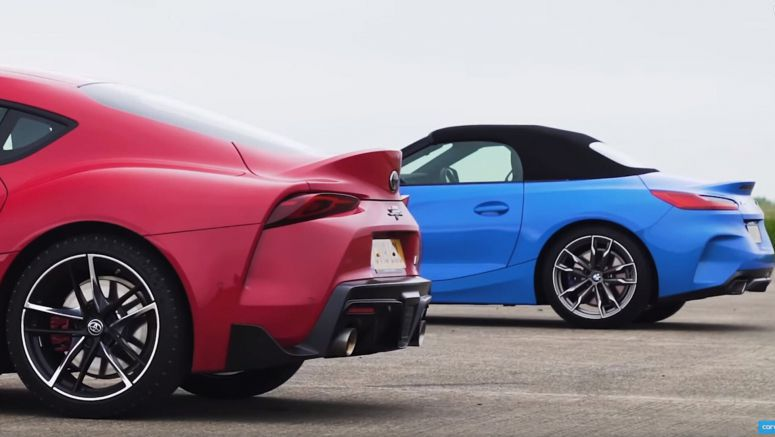 Watch 2020 Toyota Supra Easily Outpace A BMW Z4 M40i