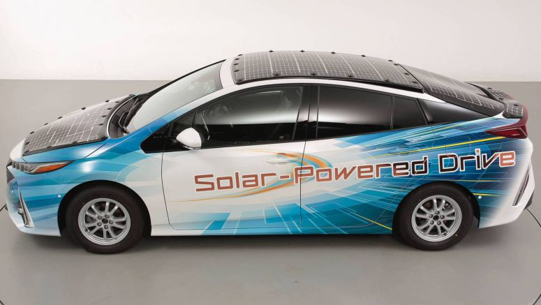 Toyota Covers Prius Prime With Solar Panels That Also Charge Battery On The Move