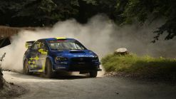 Riding up the Goodwood Festival of Speed rally stage in the Subaru - Autoblog