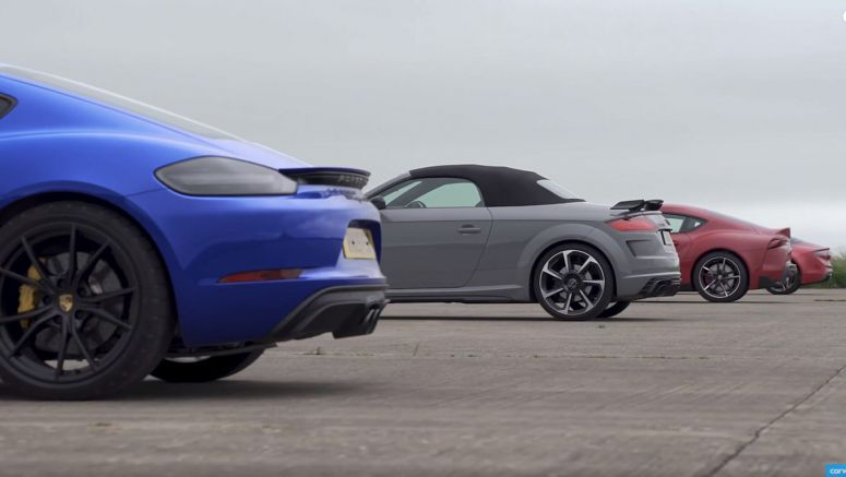 New Toyota Supra Races Porsche Cayman GTS, Audi TT RS And Alpine A110