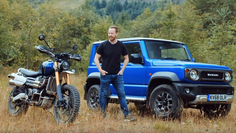 Suzuki Jimny Shows Its Off-Roading Prowess Against A Triumph Scrambler