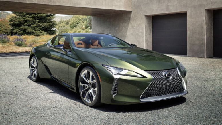 2020 Lexus LC 500 Inspiration limited edition is resplendent in green
