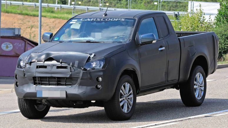 2020 Isuzu D-Max Spotted Testing Extended Cab Body